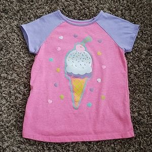 Pink and Purple ice cream top